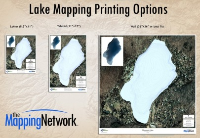 Lake Mapping Printing Size Options Land Mapping