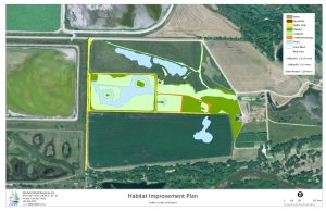 GPS Waterfowl Habitat Improvement Map
