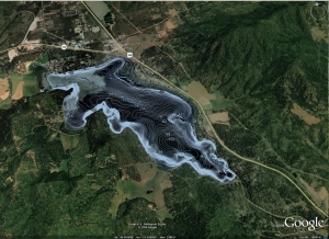 Contour Lake Map in Google Earth