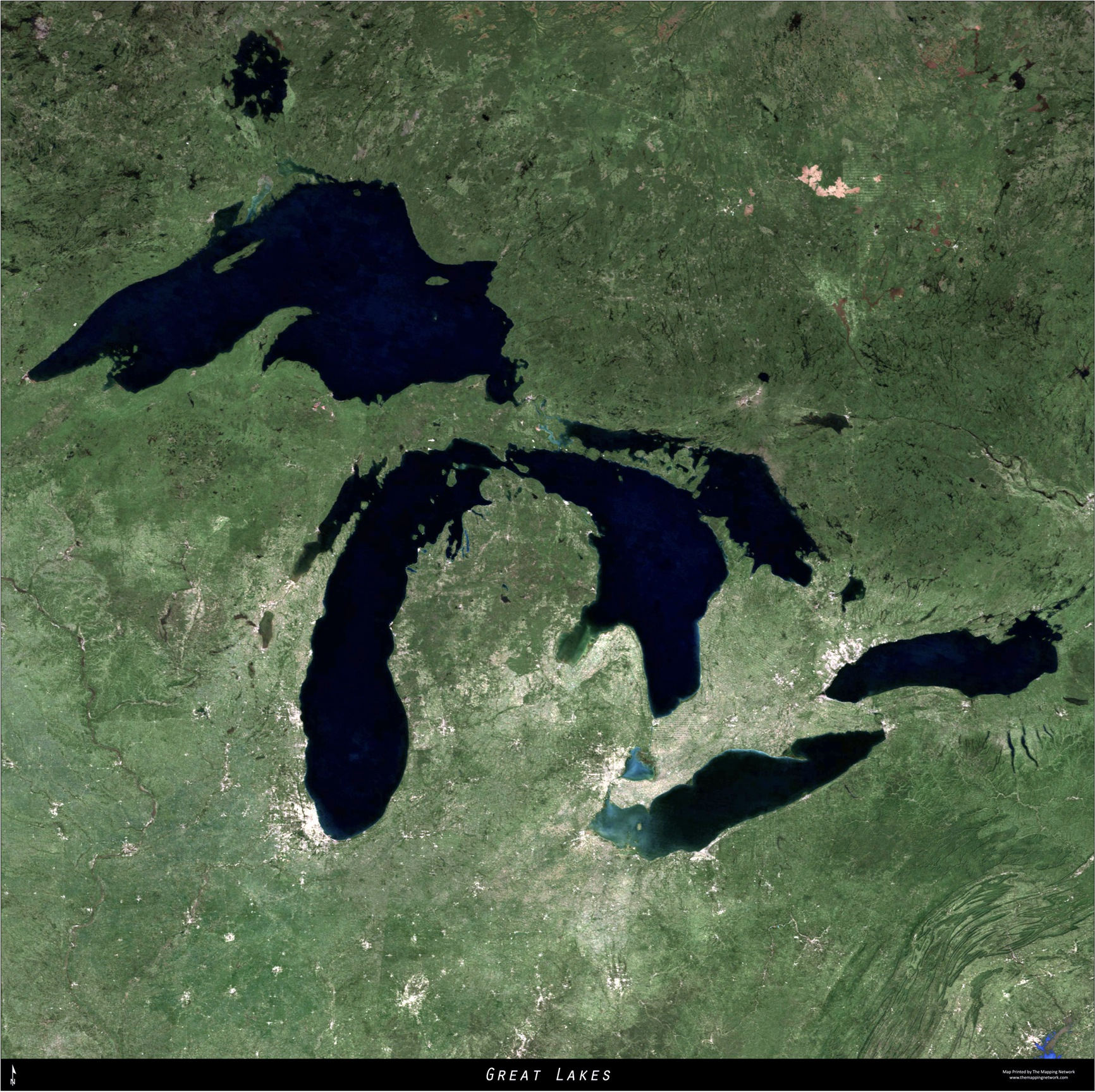 Large Format Aerial Map of The Great Lakes The Landowner Network