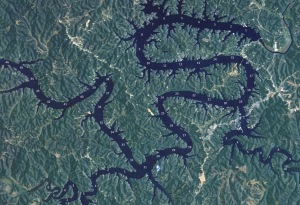 Lake of the Ozarks Mile Marker Aerial Map