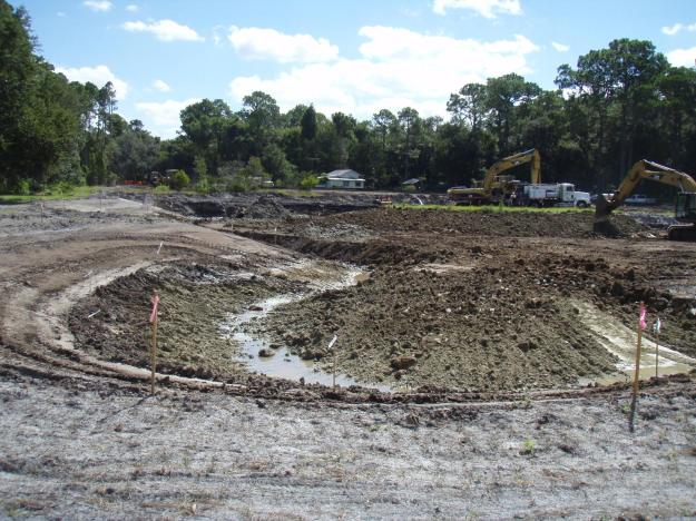 New lake construction is well underway using the design created by Quality Lakes and The Mapping Network