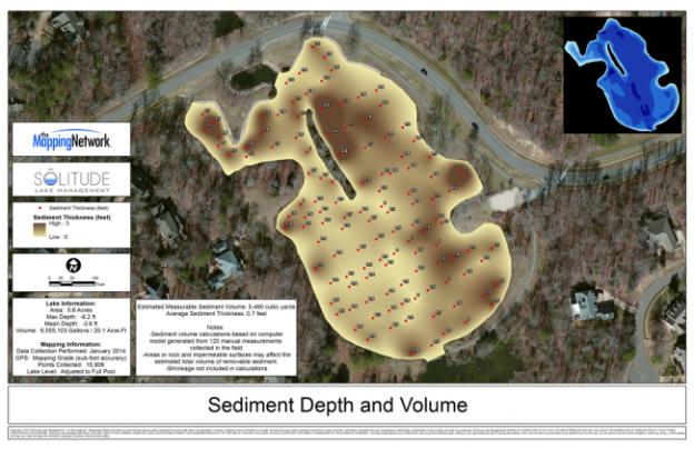 Sediment Depth and Volume Map