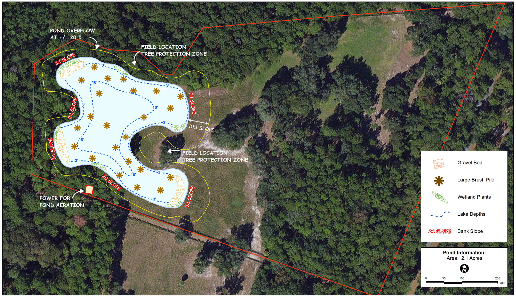 New pond design and construction welcome to the mapping for Bass pond construction